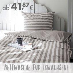 Online bis 31.12.2020 – Bettwäsche für Erwachsene
