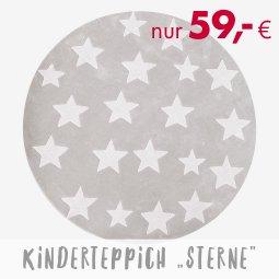Online bis 31.12.2020 - Kinderteppich Sterne