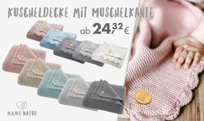 Online bis 31.12.2020 - Kuscheldecke mit Muschelkante