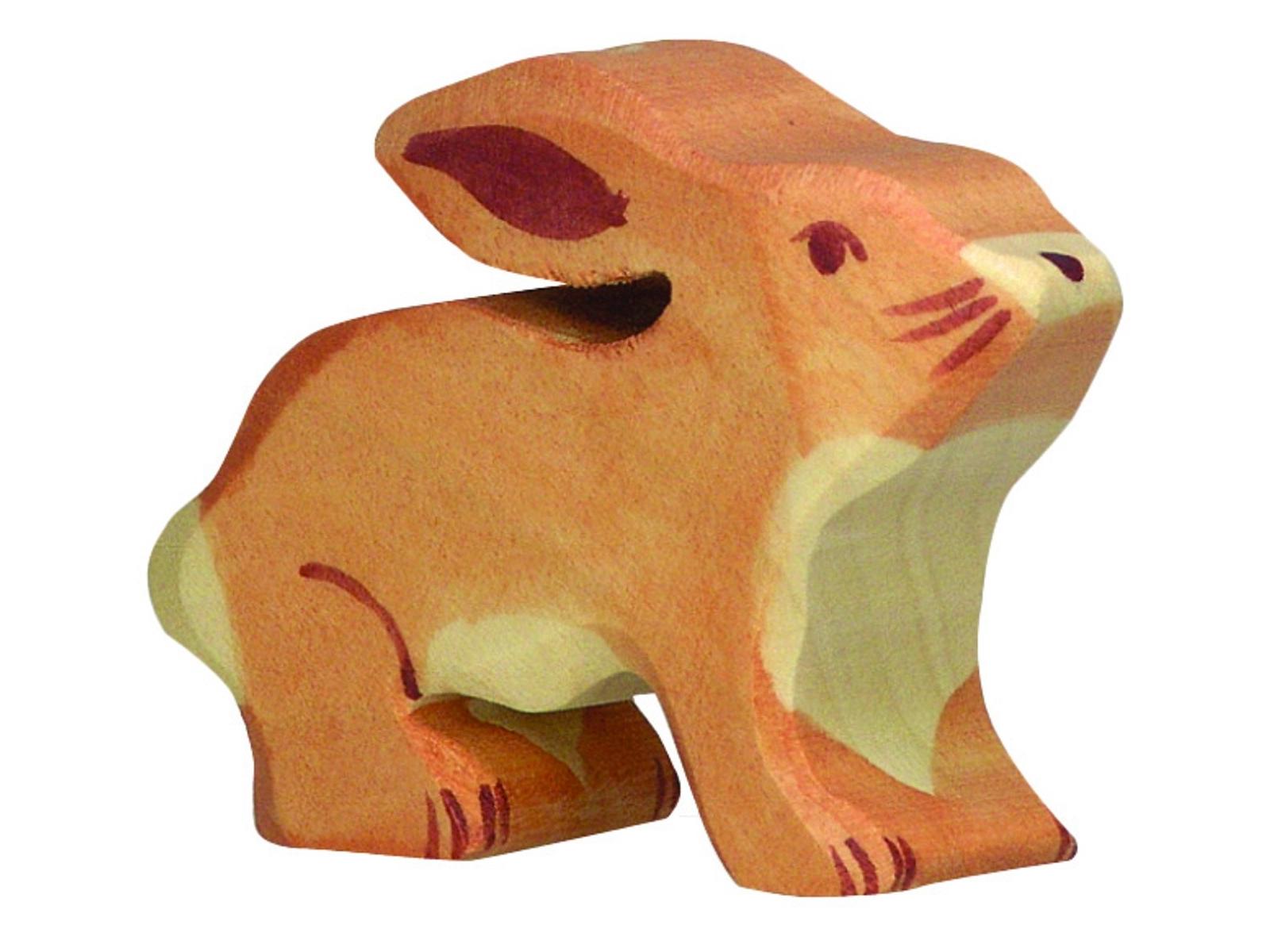 80102 Holztiger Tierfigur Holzfigur Hase