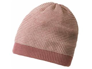 Baby Mütze Beanie melange-rosé