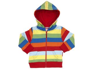 Baby und Kinder Jacke mit Kapuze Regenbogen rot