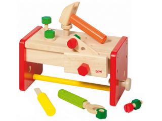 Kinder Werkbank Werkzeugkiste aus Holz 16-teilig
