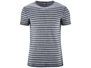 """Herren T-Shirt """"Andy"""" Bio-Leinen ink blue-white"""