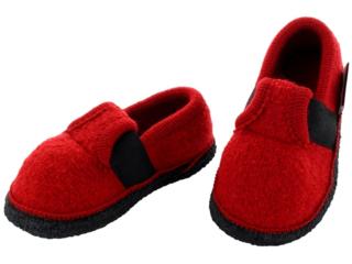 Kinder Hausschuhe Walkpuschen rot