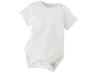 Baby Body Kurzarm Bio Baumwolle off white