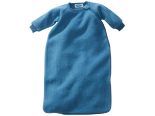 Schlafsack Baby mit Arm Bio-Schurwolle (kbT) Ganzjahr pazifik