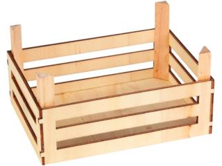 Kaufladen Obst- und Gemüsekiste Holz 3er Set