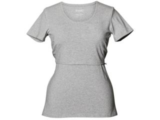 Still-Shirt mit kurzem Arm hellgrau-melange