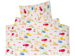 Kinderbettwäsche Bio-Baumwolle Baustelle