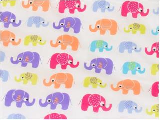 Bio-Baumwollstoff Meterware Elefanten