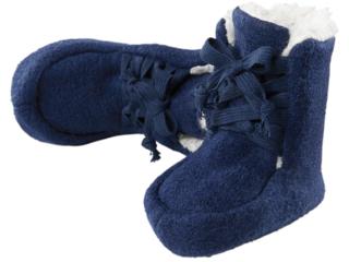 Baby Hausschuhe Walk-Boots marine