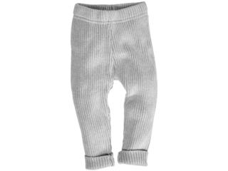 Baby und Kinder Leggings Bio-Baumwolle Strick hellgrau melange