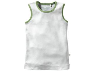 Kinder Unterhemd Bio-Baumwolle grau