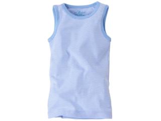 Baby und Kinder Unterhemd Bio-Baumwolle hellblau-weiß gestreift