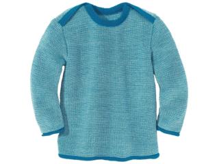 Baby und Kinder Pullover melange-blue