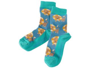 Kinder Socken Löwe petrol