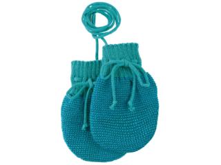 Baby Handschuhe melange-lagoon-blau