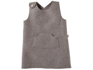 Kinder Kleid Bio Schurwoll-Walk taupe