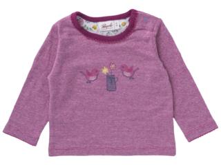 Baby und Kinder Langarmshirt pink-melange