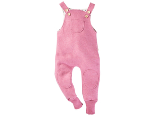 Kinder Latzhose Bio Schurwoll-Walk pink