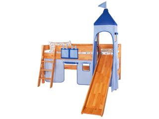 Turm Vorhang für Spielbett, hellblau-dunkelblau