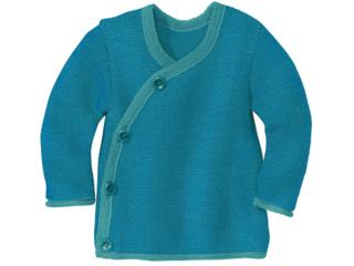 Baby-Jacke melange-lagoon-blau