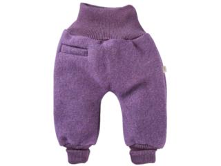 Baby Hose Bio Schurwoll-Walk lila