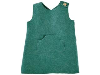 Kinder Kleid Bio Schurwoll-Walk grün