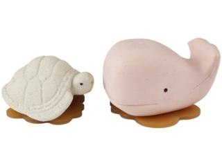 Badewannenspielzeug Wal Schildkröte Naturkautschuk pink vanilla