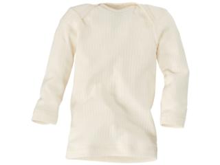 Baby Schlupfhemd Langarm Baumwolle-Wolle-Seide natur
