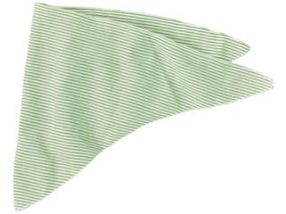 Baby und Kinder Dreieckstuch Wolle Seide grün-geringelt
