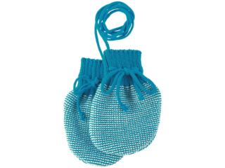 Baby Handschuhe melange-blue