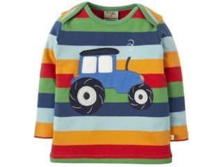 Baby und Kinder Langarmshirt Traktor bunt