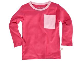 Kinder Langarmshirt Bio-Baumwolle pink