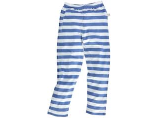 Kinder Leggings Bio-Baumwolle blau-off white
