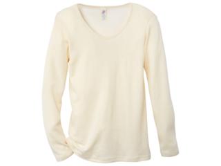Damen-Unterhemd Langarm natur