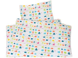 Kinderbettwäsche Bio-Baumwolle Happy Fish