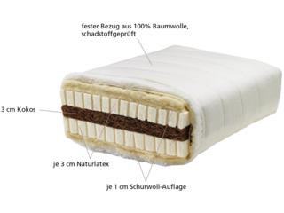 Schicht-Kombimatratze 90x200 cm (mittelweich)