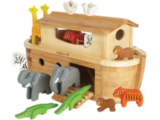 Arche Noah groß aus Holz 15-teilig