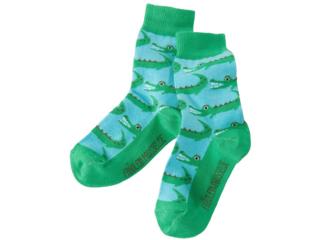 Kinder Socken Krokodil petrol
