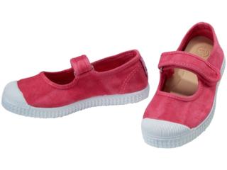 Kinder Schuhe Ballerinas mit Kappe und Klettverschluss rosa vivo