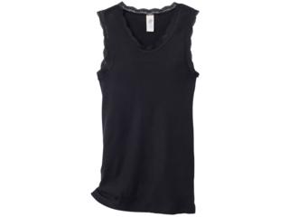 Damen Unterhemd ohne Arm schwarz
