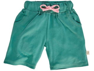 Kinder Shorts Bio-Baumwolle grün