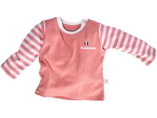Baby Langarmshirt Bio-Baumwolle rosa