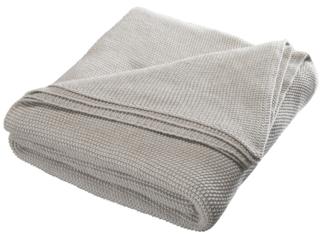 Kuscheldecke für Erwachsene Bio-Baumwolle sand melange