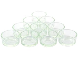 Teelichthalter Glas 10er Set