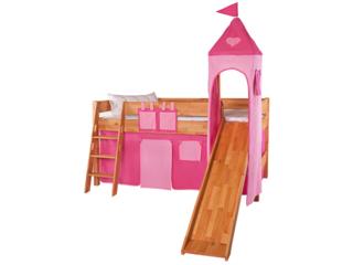 Turm Vorhang für Spielbett, pink-rosa