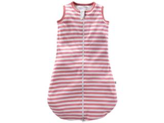 Baby Schlafsack ohne Arm Bio-Baumwolle rosa-off white