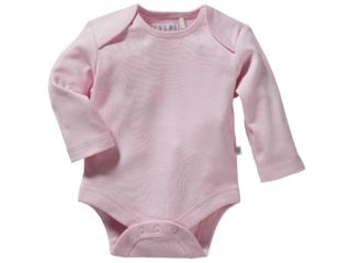 Baby Langarmbody Bio-Baumwolle hellrosa